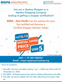 Special Discount Offer - Shopper Certification
